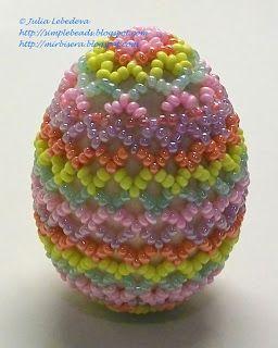 Подарки из бисера к Пасхе: яйца, оплетённые бисером, и другие изделия. Серия мастер-классов с подробным объяснением и пошаговыми фотографиями.
