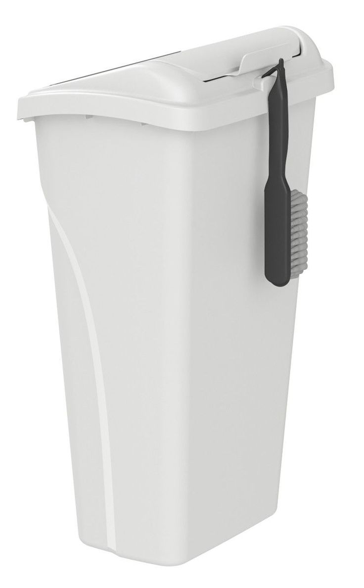 10-Gal All-in-One Wastebasket with Dustpan and Brush