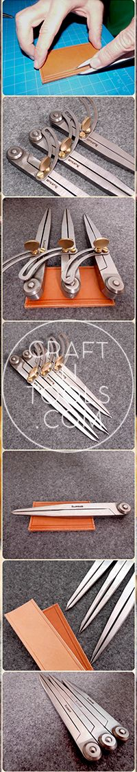 New Vergez Blanchard Scratch 1/4 Compass / Wing Divider. 3 sizes. Leather…