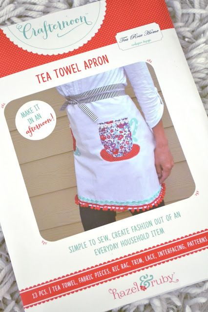 Tea Rose Home: Tea Towel Apron Kit Review @Diary of a Quilter / Giveaway!!