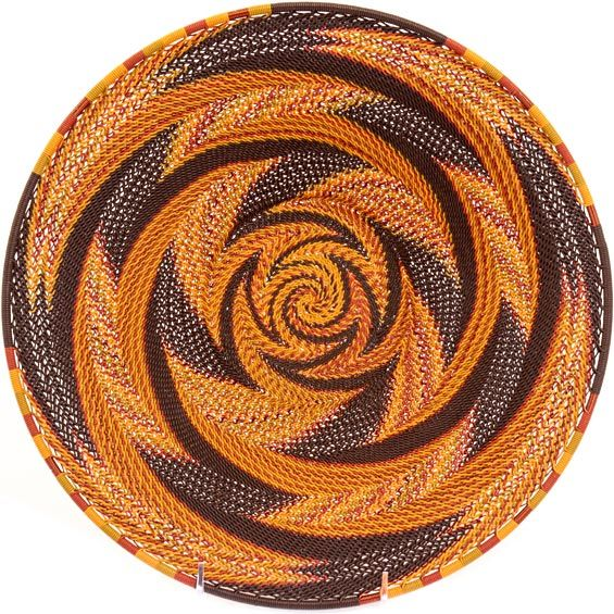 African Basket - Zulu Wire - Shallow Bowl #35988