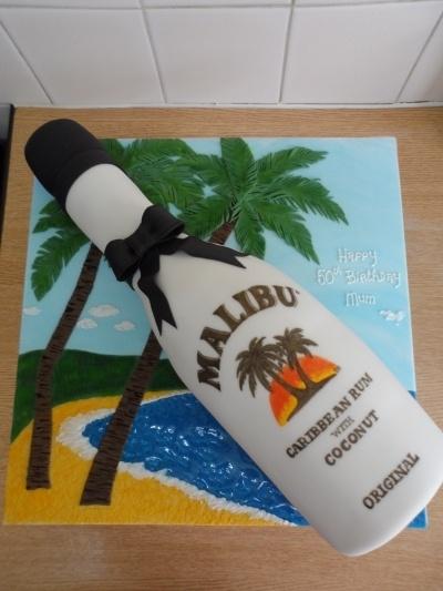 Malibu Bottle cake By _di-di_ on CakeCentral.com