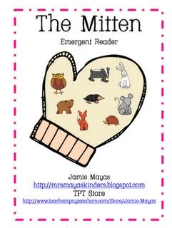 The Mitten FREEBIE Emergent Reader