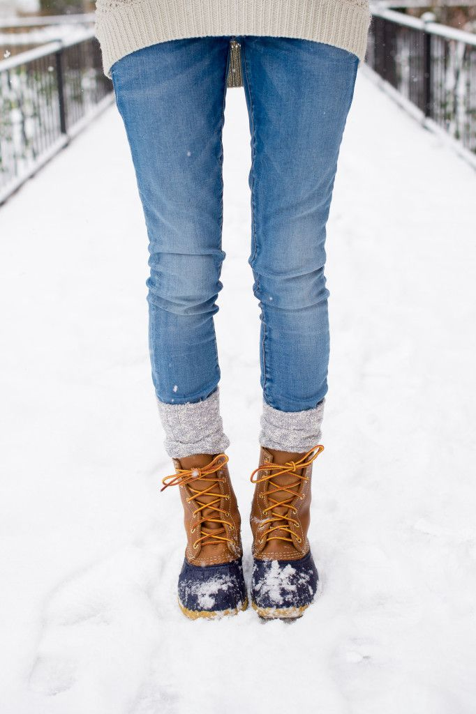 Duck boots pair perfectly with knitted socks. Make your own pair of socks for a fraction of the cost with a Craftsy kit. We send you the yarn and the pattern. All you have to bring is the creativity! #knitting