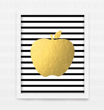 Currently Craving: All Things Apple {cute foil apple print for only $5}