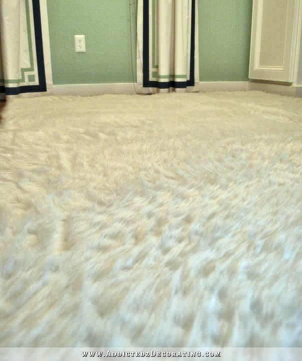 diy faux fur rug how to fake a flokati - Faux Fur Rugs