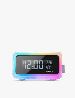 Wireless Charging Pad, Digital Alarm Clock, Smartphone, Tech, Bar, Technology
