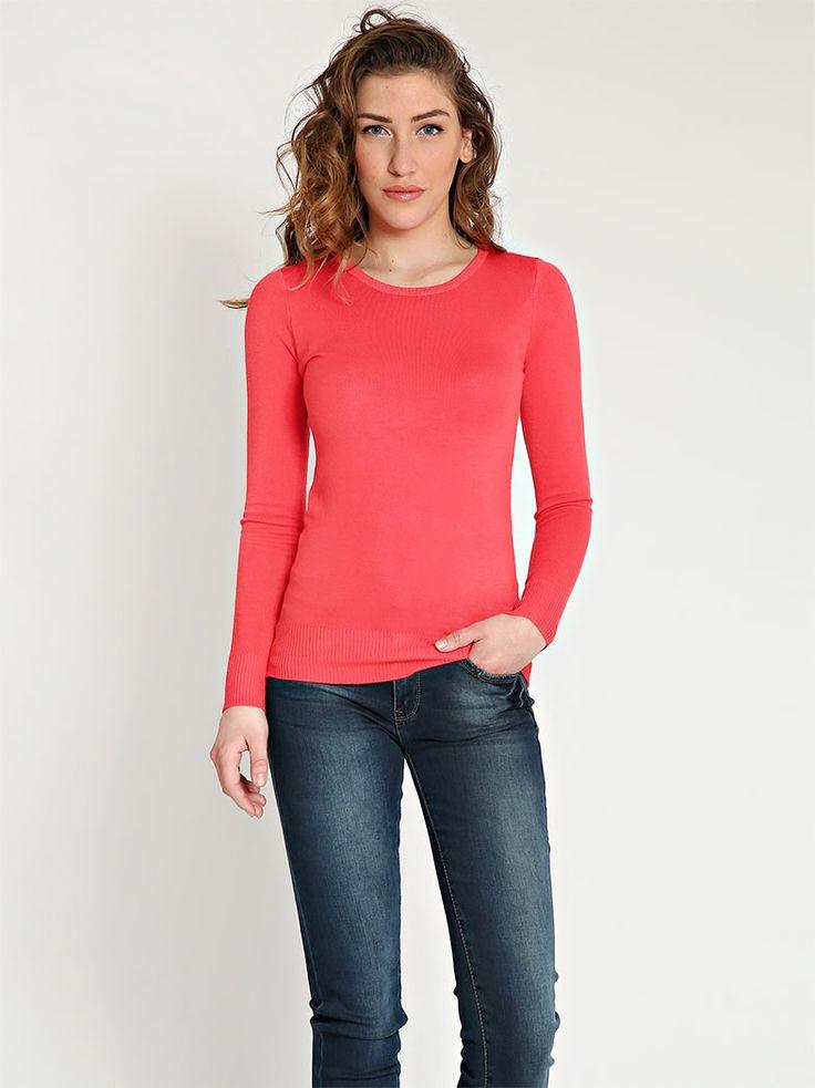 Μπλούζα με στρογγυλή λαιμόκοψη - 6,99 € - http://www.ilovesales.gr/shop/blouza-me-strongyli-lemokopsi-28/