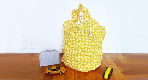 Tuto grand sac XXL en tissu pour jouets