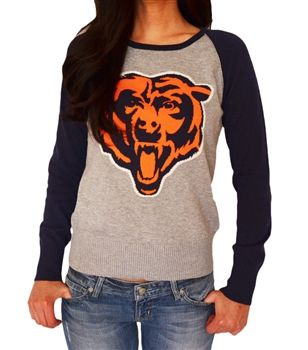 Chicago Bears sweater with raglan sleeves