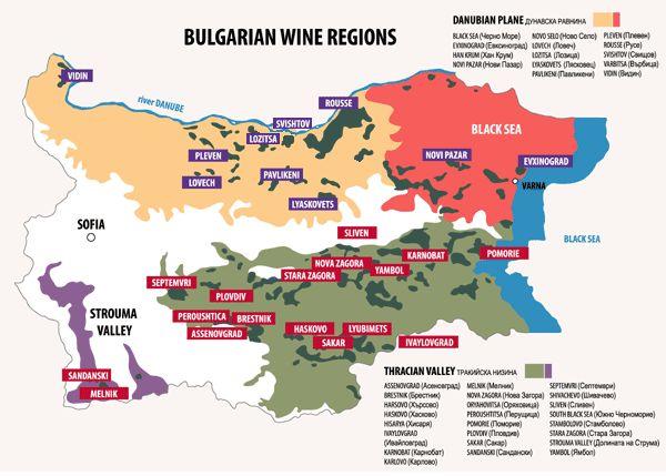 fashion uk  Wine regions map in  Bulgaria