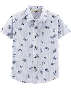 a91e449b Bug Poplin Button-Front Shirt | Boys Spring 2020 | Baby boy tops ...