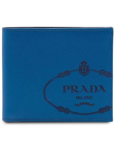 ba2ca831187c PRADA | Saffiano Bifold Wallet - Ocean Blue+Baltic Blue | $525 | Blue  leather