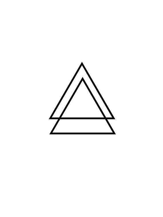 2 glifo triángulo del tatuaje temporal, varios tamaños disponibles geométrica pequeña muñeca dedo tobillo