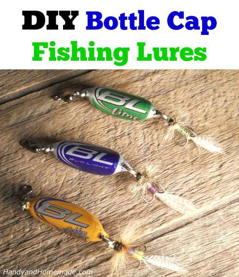 437 best something 39 s fishy images on pinterest fishing for Bottle cap fishing lure