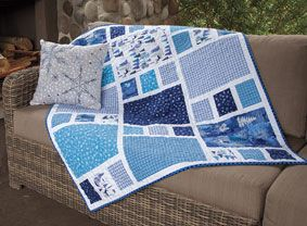 """Craftsman Crib Quilt designed by Amy Smart - from ConnectingThreads  (41-1/2"""" x 49"""")   ...no free pattern, just like the idea..."""