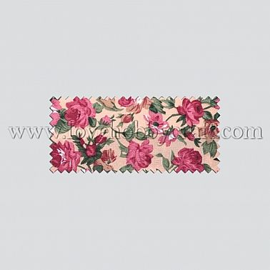 peony woven print fabrics with lovely grounding bisque polyester