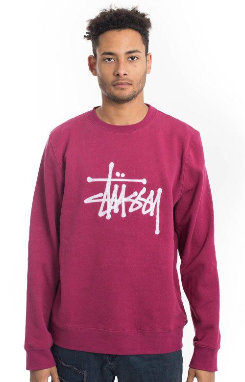 Stussy, Chain Stitch App. Crewneck - Grape - Sweatshirts / Hoodies - MOOSE Limited