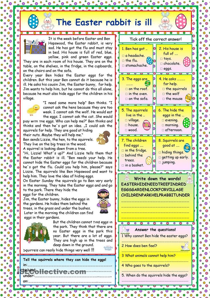 Simple Present Tense Verbs Worksheets Excel  Best Reading Comprehension Images On Pinterest  Reading  Beethoven Worksheet Word with Cause And Effect 4th Grade Worksheets Word A Nice Story About The Ill Easter Rabbit And How The Other Animals Help Him  To Hide The Easter Eggs Comprehension Exercises And Key Included Lymphatic System Worksheet Pdf