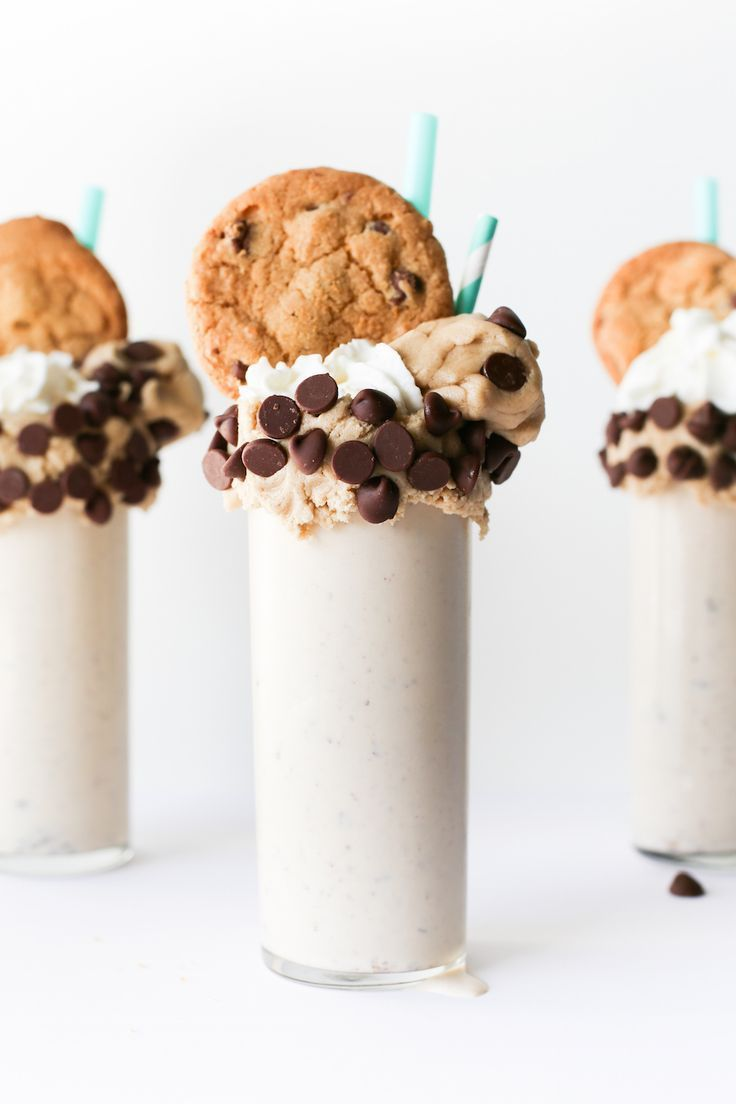 Chocolate Chip Cookie Dough Milkshake