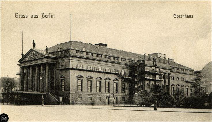 Berlin Opernhaus Opera 1908, zur Zeit von Richard Strauss