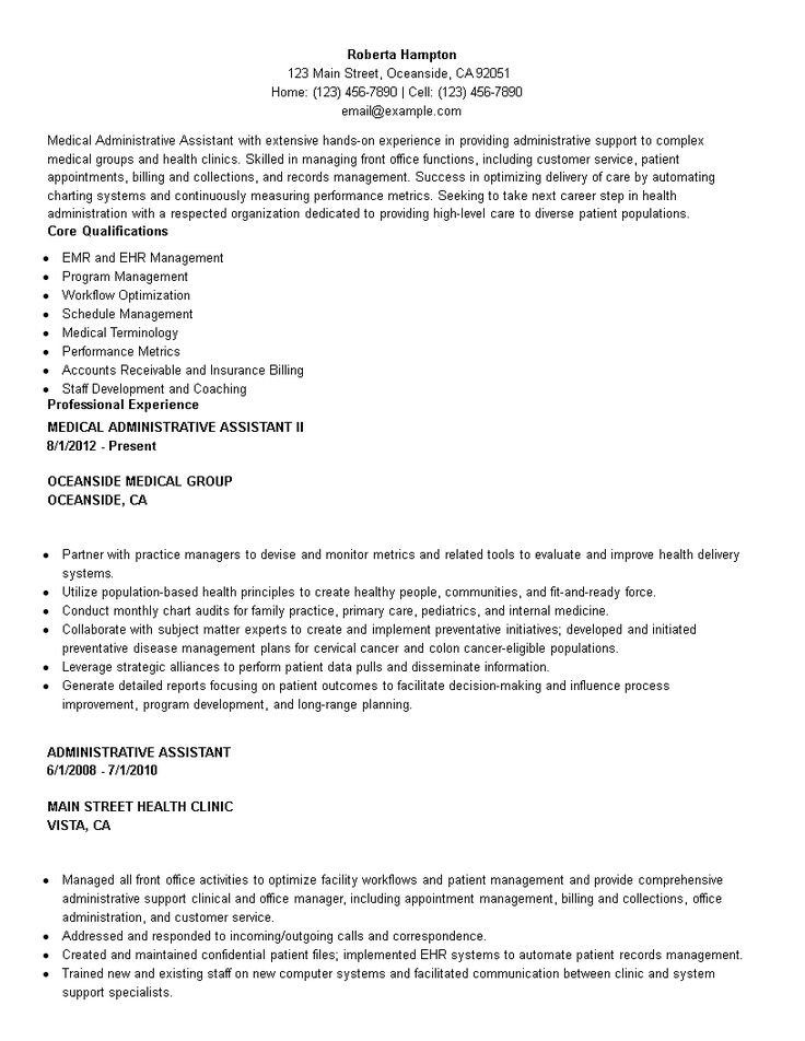 Medical Administrative Assistant Resume How to create a