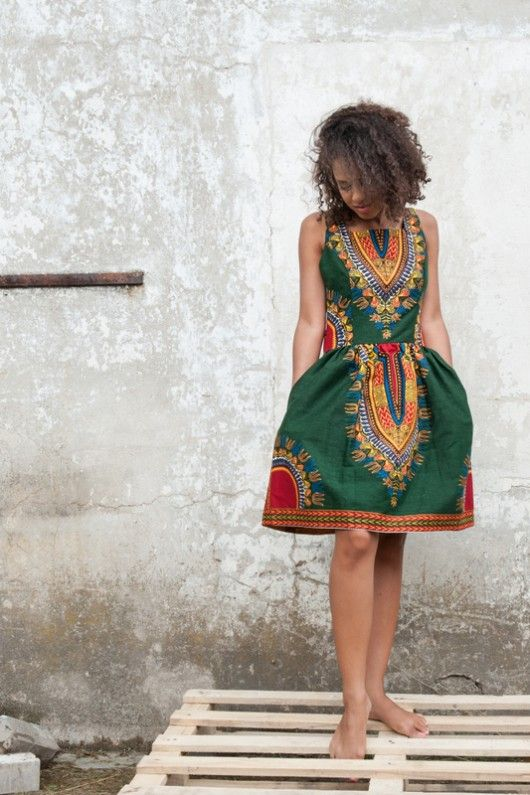 Sukienka batikowa z Afryki rozmiar S/M/L
