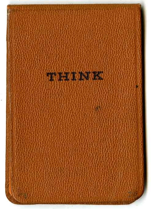 the original THINK pad from IBM (http://imprint.printmag.com/branding/the-original-think-pad/) for more pictures.