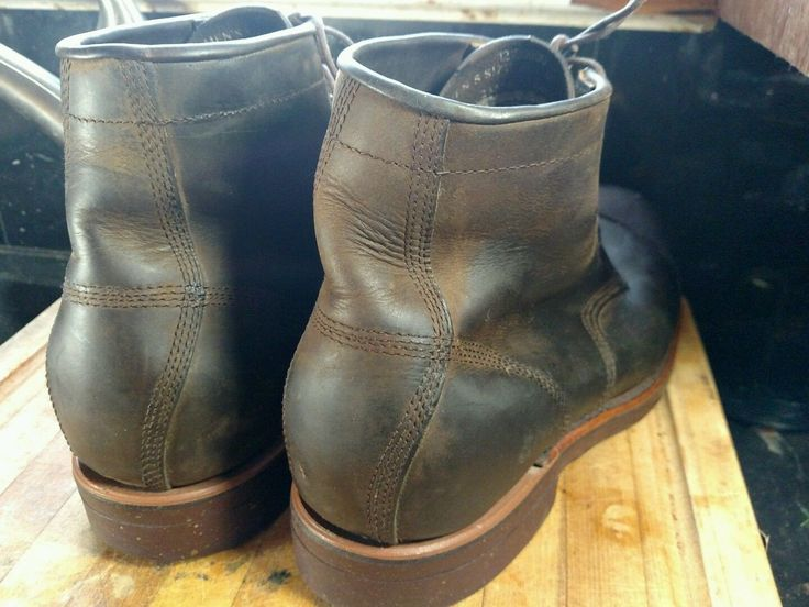 Chippewa boot LL bean   Iron worker boot  Nice brown color  Size mens 13 not sure width refer to second last photo might say EE refer to  Measurements 13.5 in X 4 7/8 in wide   Vibram sole   Leather is very supple and I just rubbed mink oil .   Made in the USA   | eBay!
