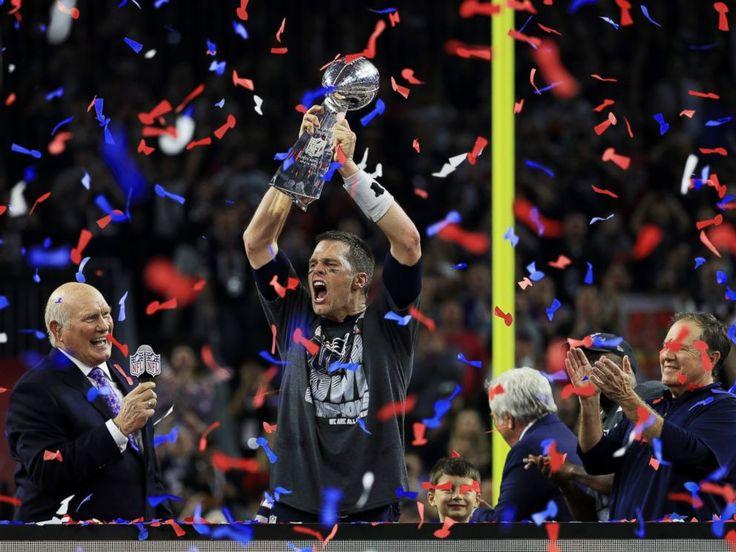 Image result for tom brady holding super bowl 51 trophy
