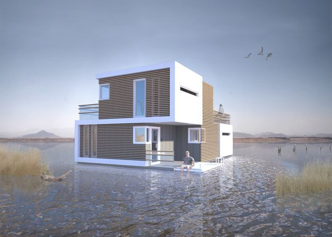 If floating homes can be designed to respond to whatever Mother Nature and the housing market throws at them — think rising sea levels or the affordable housing crises — who says they can't weather the storm of a marriage gone belly-up?
