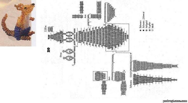 лягушка из бисера схема