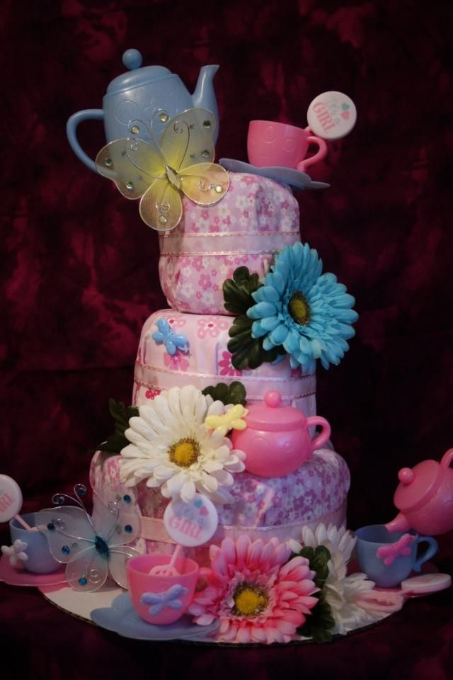 alice in wonderland diaper cakes - Google Search