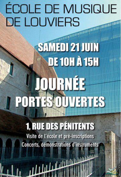 Ce vendredi 21 juin, venez découvrir, redécouvrir l'école de musique de #Louviers et assister à des mini-concerts toute la journée.