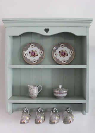 Handmade Shabby Chic Blue Painted Shelf Unit