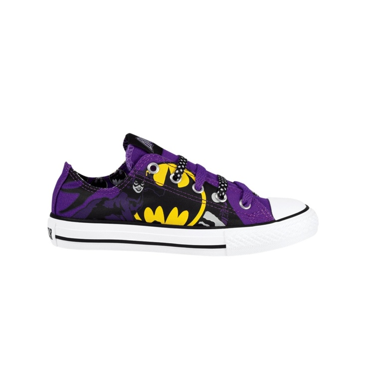 Youth Converse All Star Catwoman Athletic Shoe, PurpleCatwoman Journeys Kidz