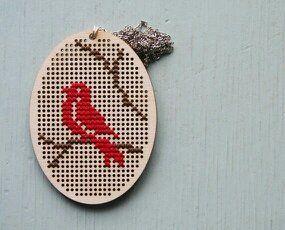 cross stich bird