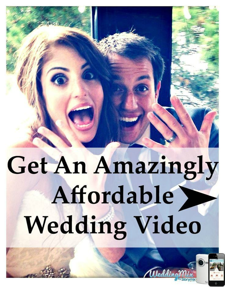 WeddingMix, the Knot's #1 Rated Wedding Video Alternative. Comes with an app so guests can help capture your special day. budget wedding video