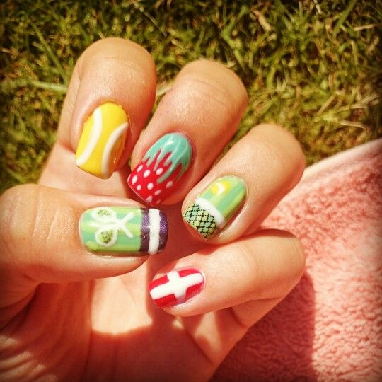 29 best tennis images on pinterest tennis nail arts and wimbledon nail art when i was first learning nail art 3 prinsesfo Image collections