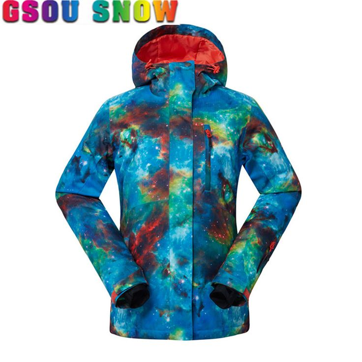 Gsou Snow Snowboard Jacket Women Winter Coat Cotton Pad Warmth Snowboard Jackets Waterproof Breathable Lady Ski Jacket Plus Size