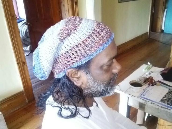 crochet slouchy men's beanie