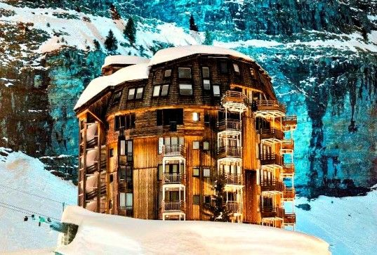 Mysterious 1960's Avoriaz Ski Resort is Straight Out of a Fantasy Film Noir