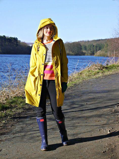 Kat got the Cream in Joules Waterproof coat - The Seafarer.