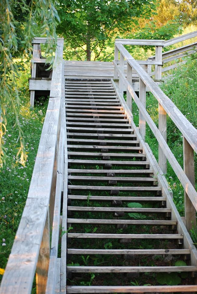 Bayfield Ontario - oh how many times we went up and down those stairs to the beach when we were little...