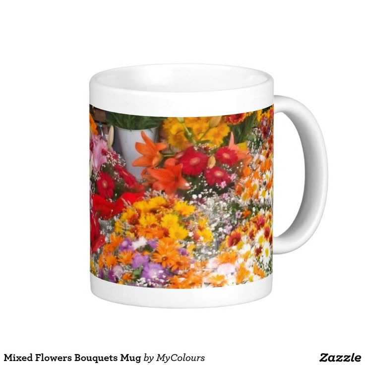 Mixed Flowers Bouquets Mug
