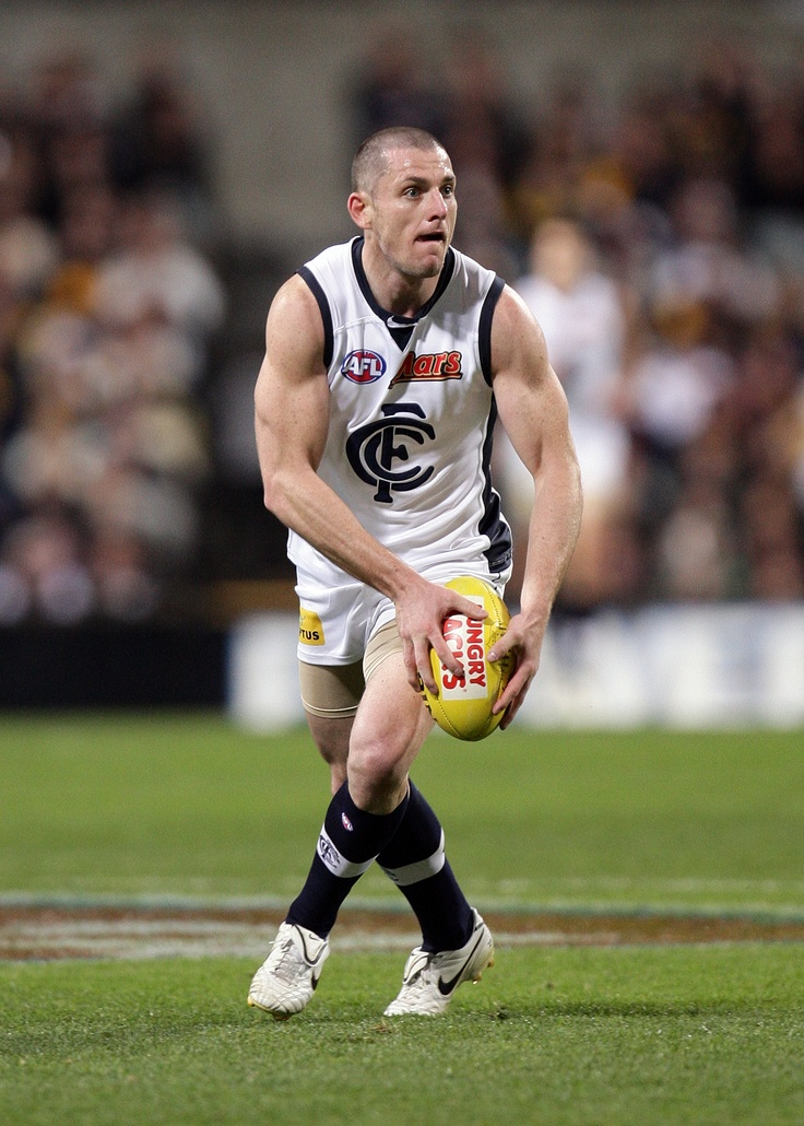 In action against the Eagles in Round 17, 2010 at Subiaco Oval.