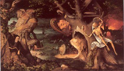 Мандейн Ян (1502-1560) — Искушение святого Антония. (Бергамо, Академия Каррара)