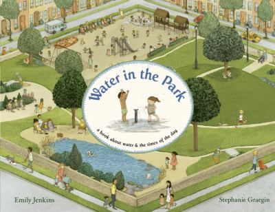 FICTION:Shows how the water in a park is used in different ways and at differenct times by the human and animal inhabitants of a neighborhood.