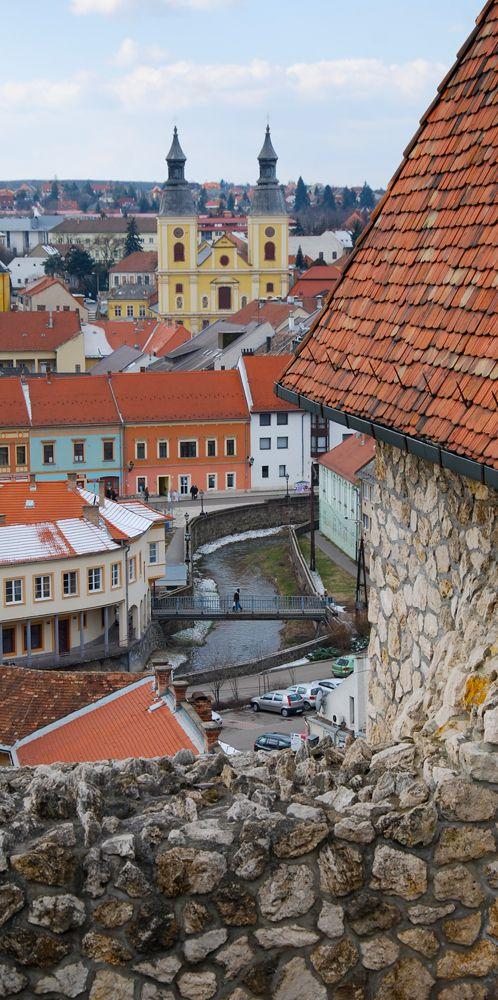 Eger - Hungary - Kilátás a várból, az Eger patakra. View from the Castle of Eger