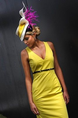 yellow dress - melbourne cup